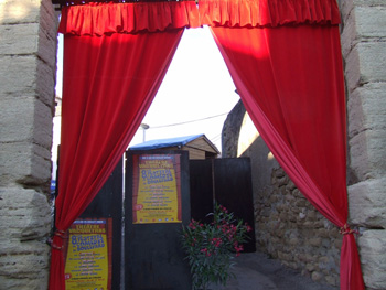 Festival de Vacqueyras-Entrée-Le porche